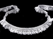 Cotton Elastic Bobbin Lace Trim width 15 mm