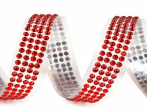 Self Adhesive Tape width 13 mm with Faux Pearls or Rhinestones