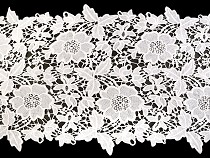 Embroidered Lace / Table Runner width 36 cm off white