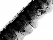 Tylový volánik s perlami šírka 75 mm