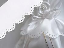 Saténová krajka / stuha šíře 65 mm svatební