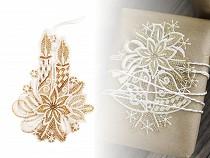 Vianočná čipková dekorácia