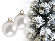 Perla s očkom / gombík Ø18 mm