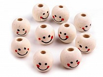 Wooden Beads with Face Ø18 mm  2nd quality