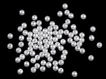 Plastové voskové koráliky / perly Glance Ø4 mm