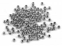 Plastové voskové koráliky / perly Glance Metalic Ø4 mm