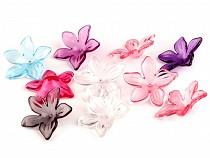 Plastový květ transparent Ø29 mm