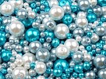 Round Glass Pearl Imitation Beads mix of sizes and colours Ø4-12 mm