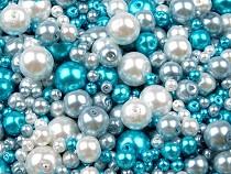 Sklenené voskové perly mix veĺkostí a farieb Ø4-12 mm