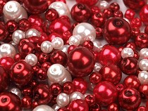 Skleněné voskové perly mix velikostí a barev Ø4-12 mm