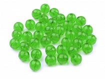 Plastic Round Beads Ø8 mm Transparent