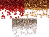 """Glass Seed Beads """"Rocaille"""" 12/0 with visible puling hole 2mm"""