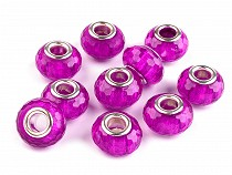 Crystal Faceted Charm Beads 9x14 mm