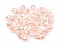Plastové voskové korálky / perly Glance ohňovka Ø8 mm