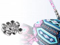 Kunststoff-Perlen  Großlochperlen Metallic 9x9,5 mm