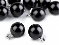 Plastové korálky / perly s očkem 10 mm