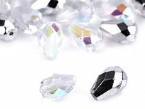 Glasperlen geschliffen Tropfen  7x10 mm