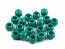 Nagy lyukú műanyag gyöngy 7x10 mm