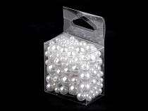 Plastové voskové koráliky / perly Glance mix veľkostí
