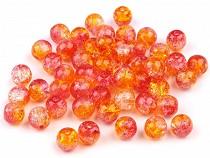 Szklane koraliki crackle dwukolorowe Ø6 mm