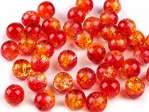 Szklane koraliki crackle dwukolorowe Ø10 mm