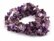 Mineral Chip Beads Amethyst on Nylon String