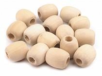 Dřevěné korálky nelakované oválek 18x20 mm