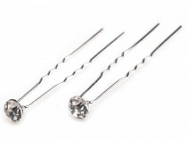Rhinestone Studded Hair Pin Ø7.2 mm