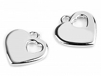 Plastic Charm Heart 24x24 mm