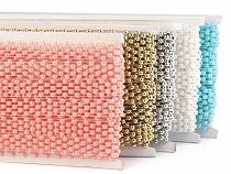 Taśma z perłami - półperły szerokość 14 mm