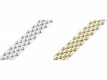 Perlenborte - Halbperlen Breite 14 mm