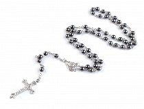 Rosary Glass  / Hematite