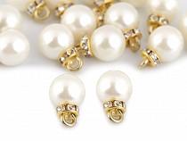 Prívesok perla s rondelkou Ø10 mm