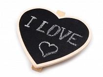 Chalkboard Wooden Peg Clip