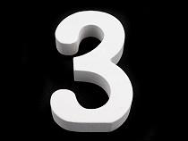 3D dekoráció számok, kérdőjel, felkiáltójel 8 cm
