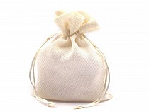 Drawstring Pouch Bag 13x19 cm Jute Imitation