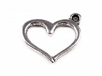Charm Pendant HEART 12x15mm