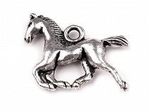 Přívěsek kovový kůň 15x18 mm
