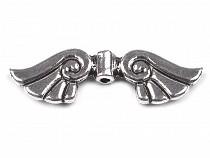 Zwischenstück aus Metall 10x35mm Flügel