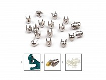 Metalowe koszyczki Ø3mm do nabijania perełek