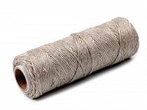 Cordelette en lin, Ø 2 mm, 50 m