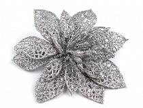 Weihnachtsdeko Blume mit Klammer  Ø14,5 cm