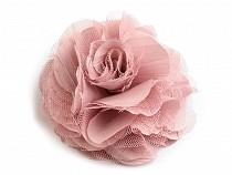 Broșă / clamă de păr trandafir, Ø9 cm