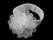 Dětská elastická čelenka do vlasů s květem