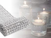 Bandă imitații cristale, lățime 58 mm