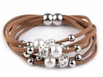 Multi-row Bracelet with Charm Beads