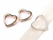 Ornament / cataramă inimă, 20x29 mm