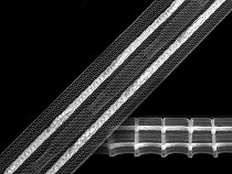 Rejansă transparentă tip creion, lățime 25 mm