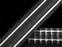 Rejansă transparentă tip creion, lățime 40 mm