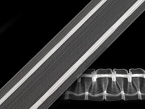 Záclonovka šíře 50 mm žabkové řasení